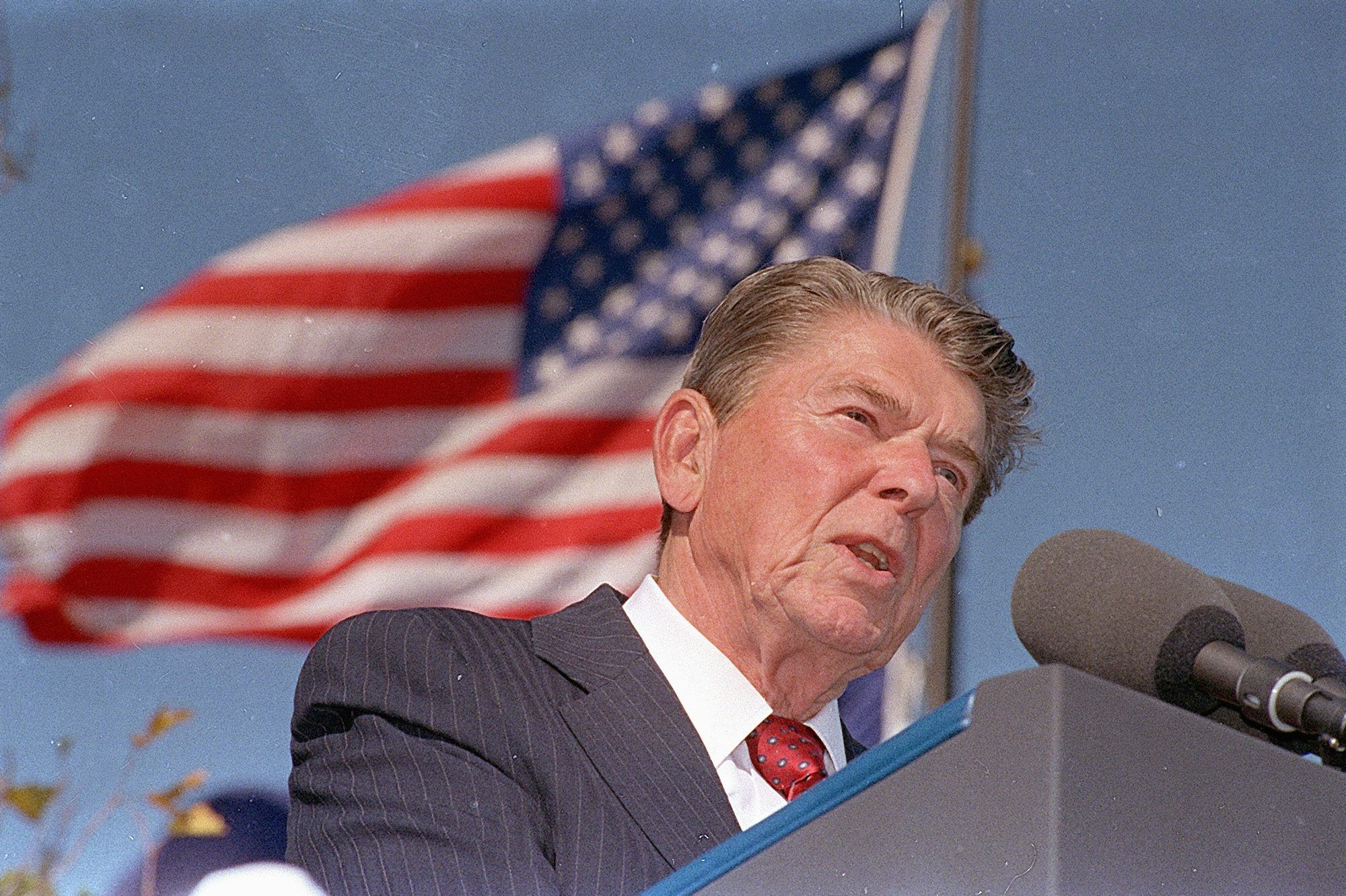 war of words over reagan s peace through strength washington times