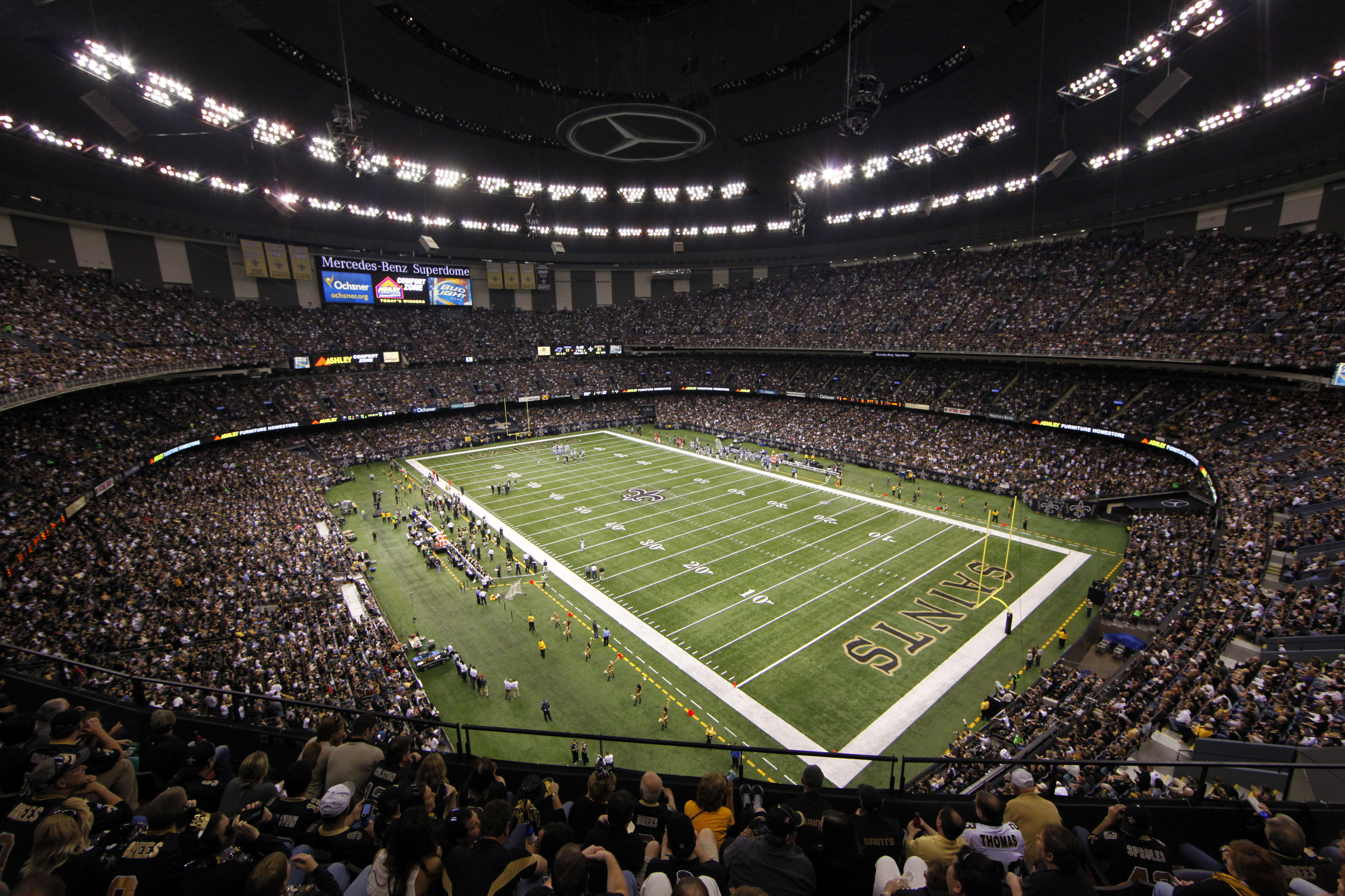 Image gallery new orleans dome inside for Inside mercedes benz stadium