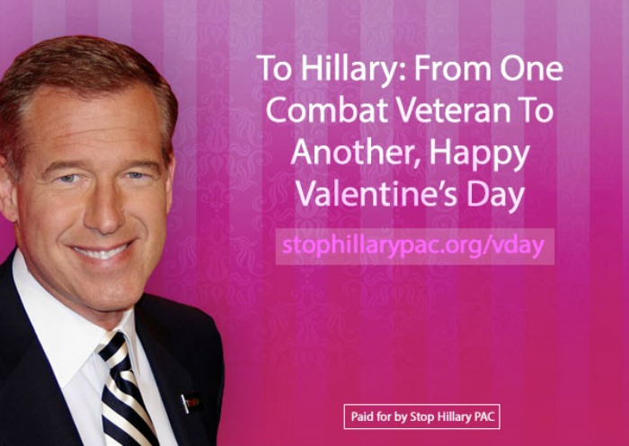 Valentines Day card mocks Hillary Clinton Brian Williams From – Clintons Valentines Cards