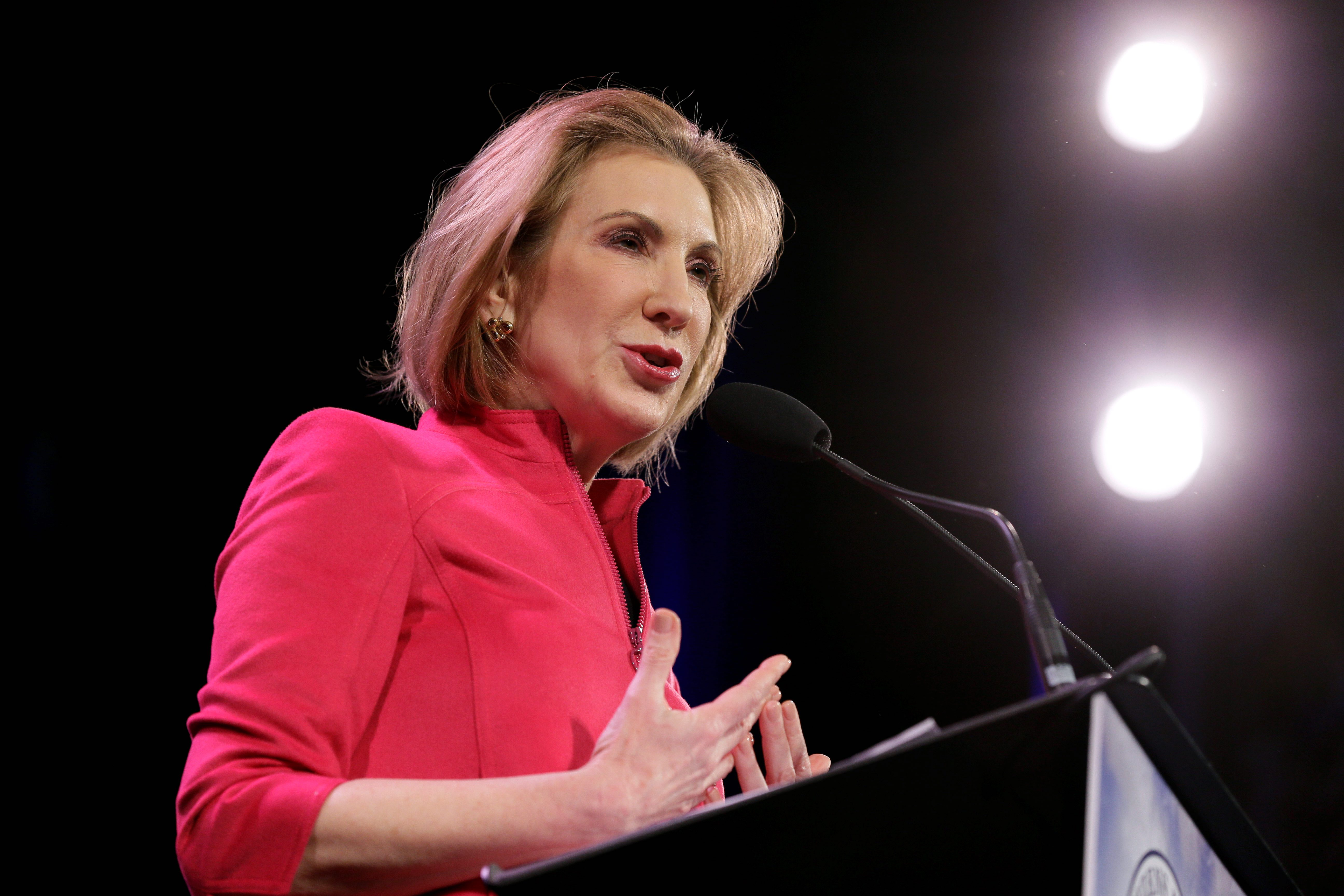 Carly Fiorina Aims To Smash Politics' Glass Ceiling