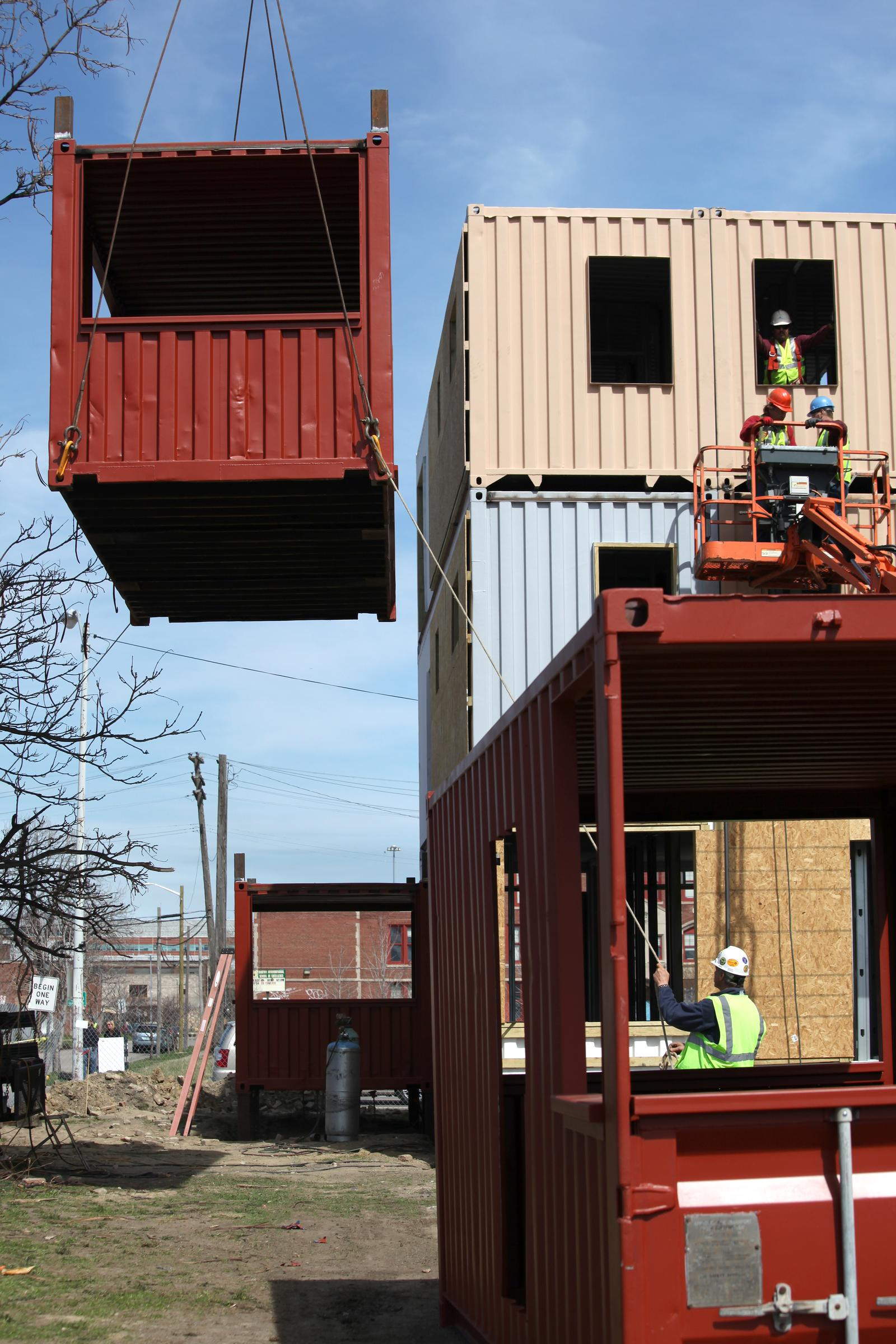 construction starts on shipping container housing effort