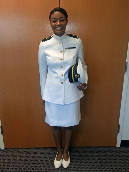 the navys new female uniforms draw fire at the academy
