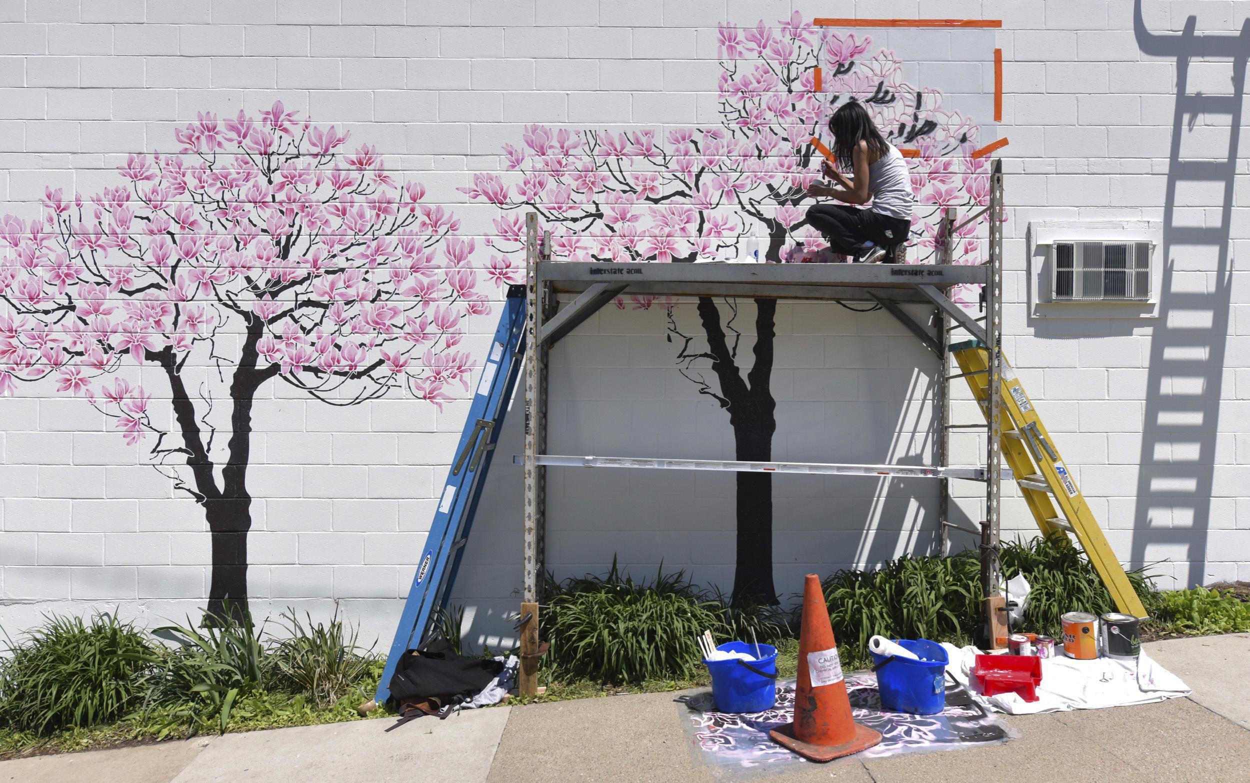 Graffiti wall ann arbor - Ann Arbor Fights Graffiti With Tree Themed Art Gets Results Washington Times
