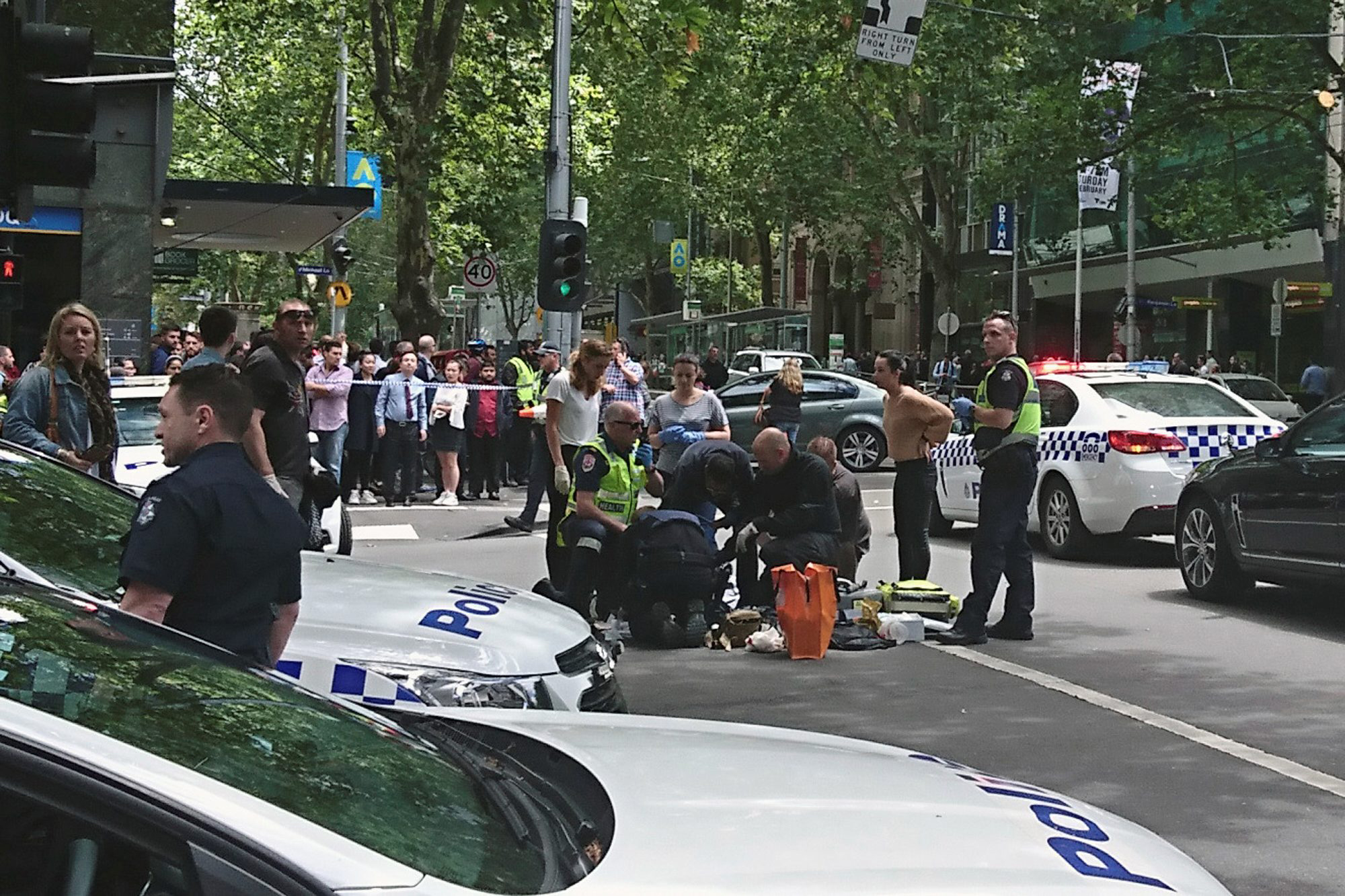 Car crashes into crowd in Melbourne, Australia