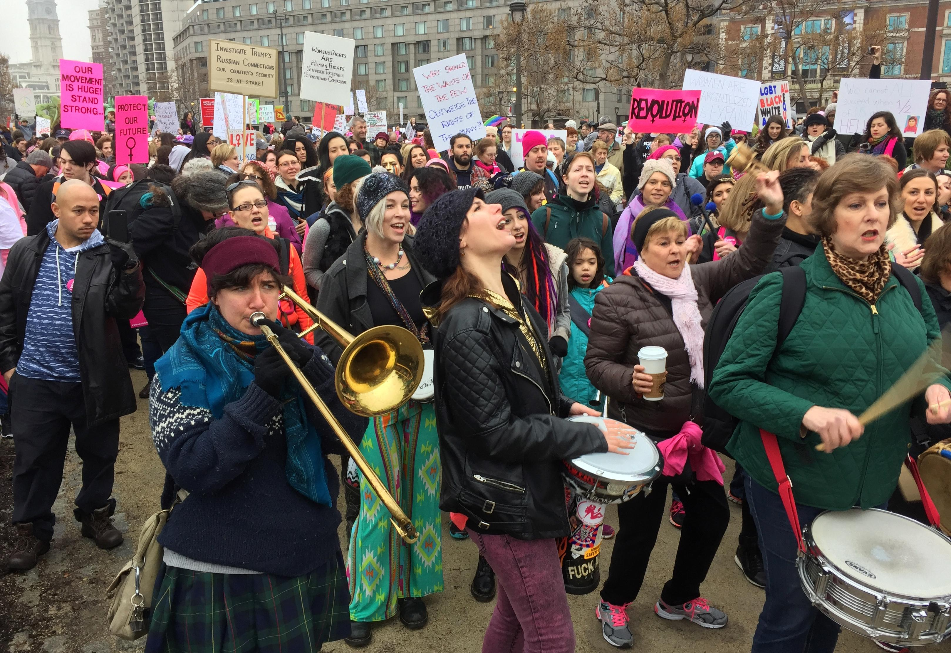 Women will continue to stand up for our rights after march new york daily news - Tens Of Thousands March For Women S Rights In Philadelphia Washington Times