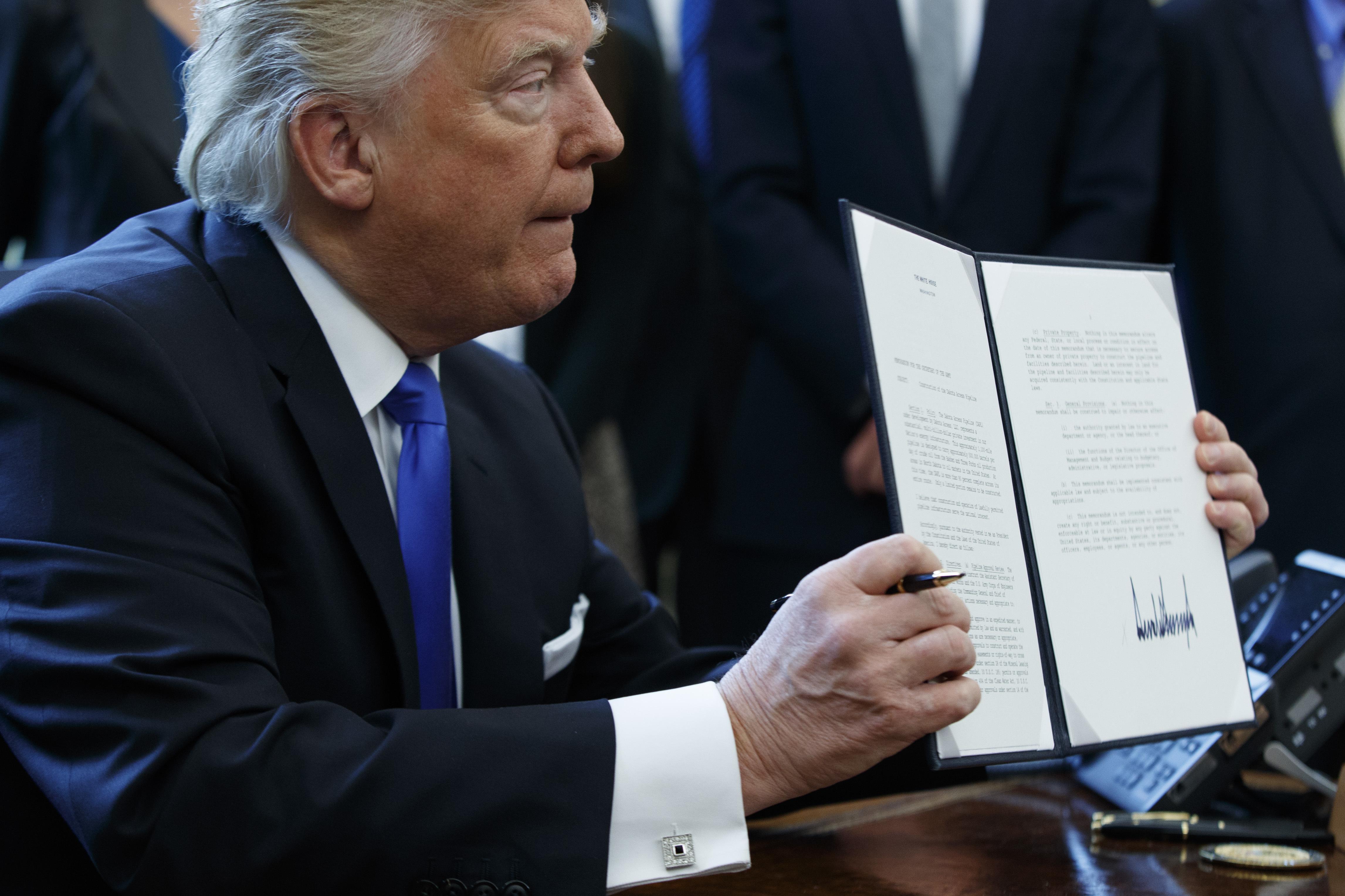 Donald Trump -- full steam ahead