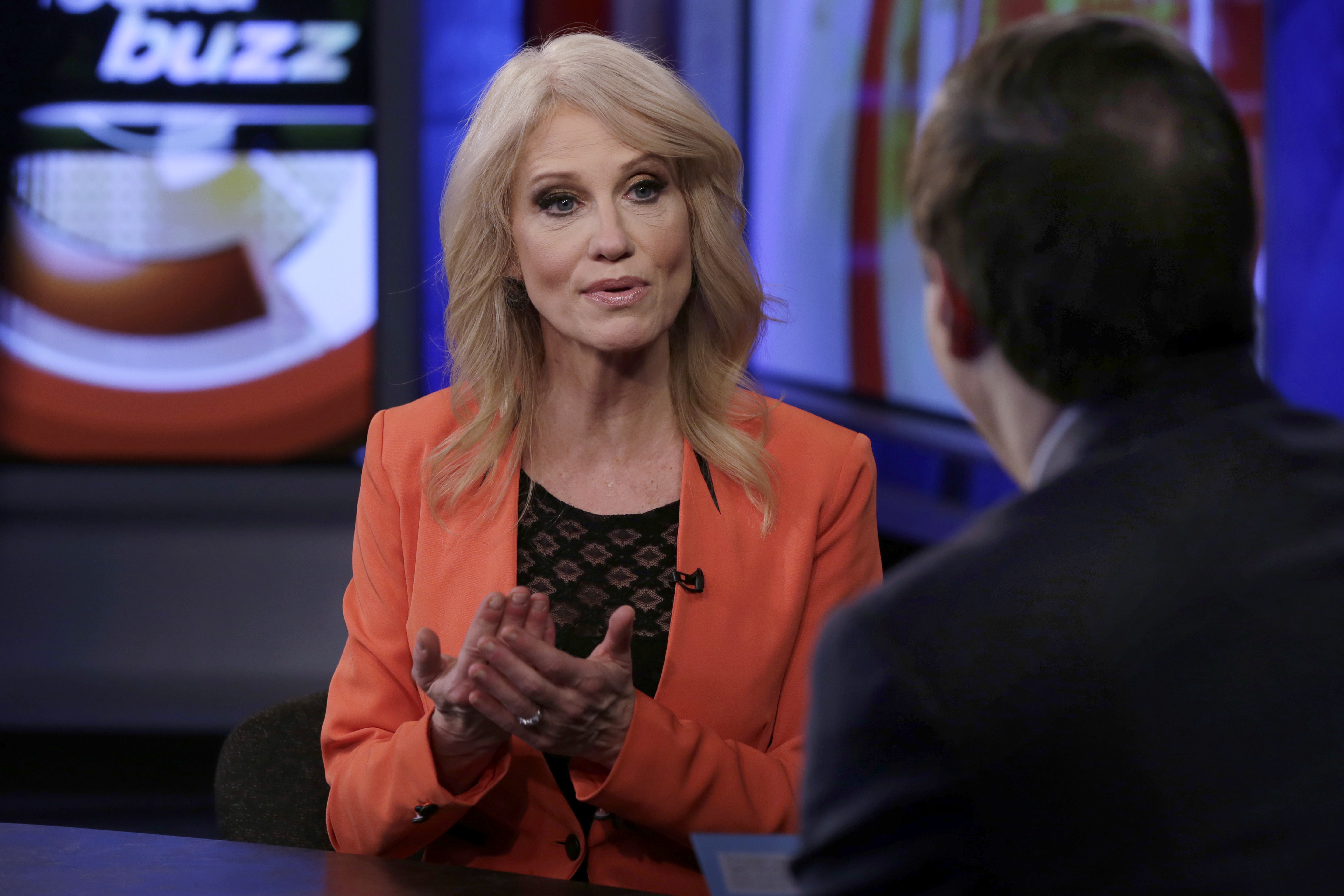 kellyanne conway bio news photos washington times counselor to the president kellyanne conway is interviewed by howard kurtz during a taping of his