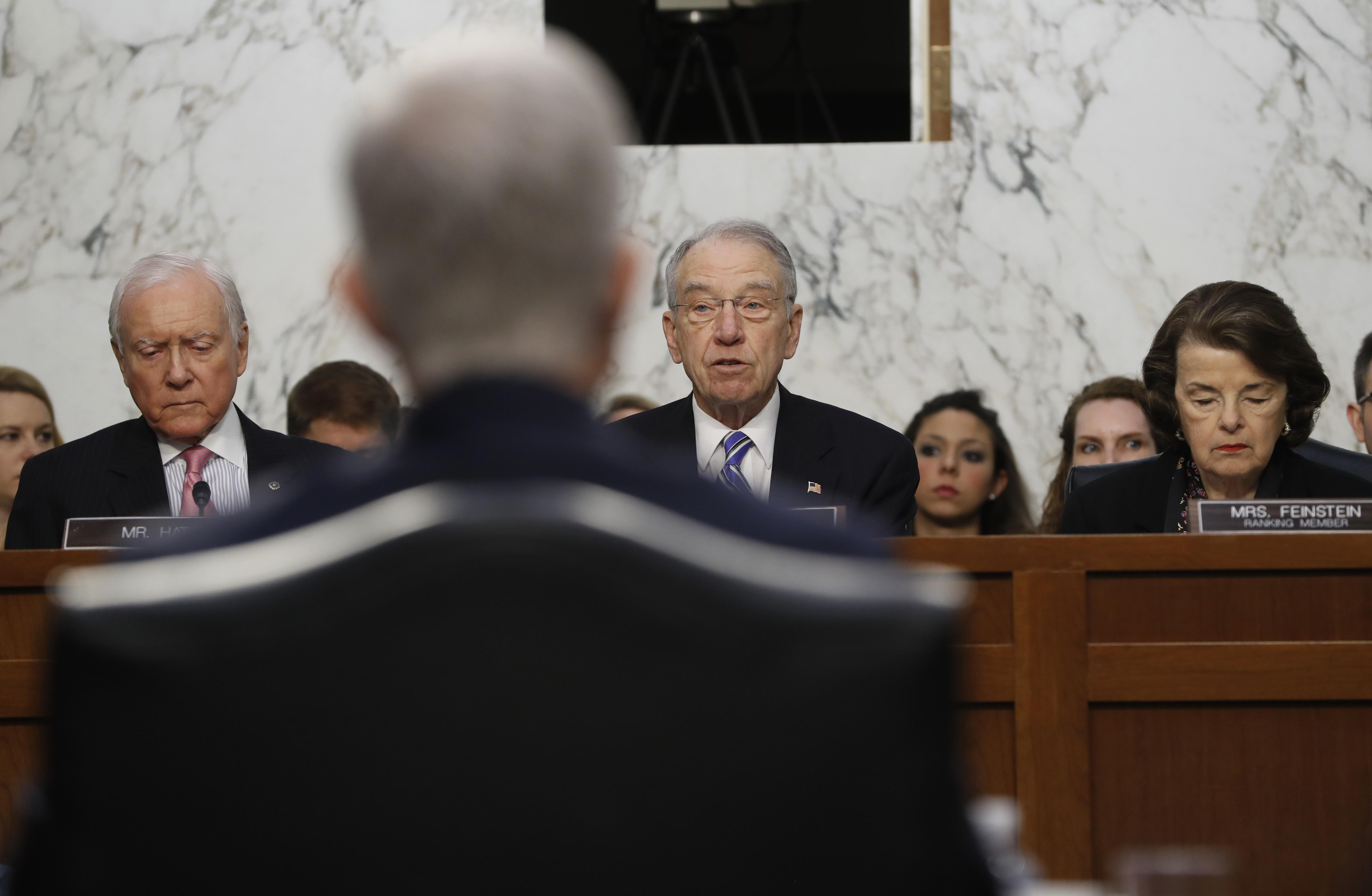 Supreme Court Justice nominee Neil Gorsuch back to camera listens as Senate Judiciary Committee  sc 1 st  Washington Times & Patrick Leahy - Bio News Photos - Washington Times 25forcollege.com