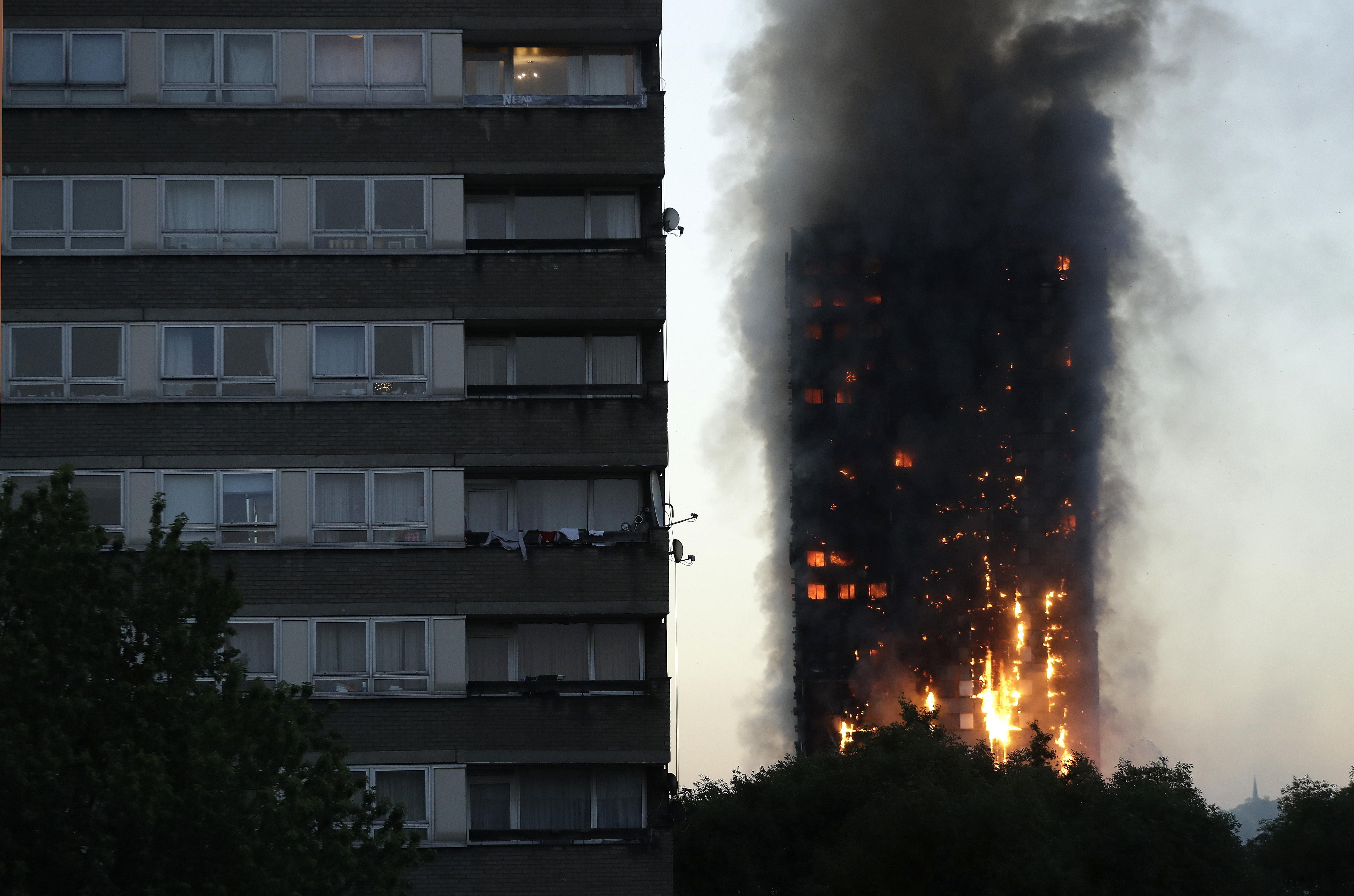Four alarm fire at new york city high rise injures 24 people two critically fox news - Death Toll Rises To 12 In London Apartment Building Inferno Washington Times